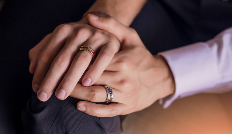 rainbow gay wedding rings by Equalli 2